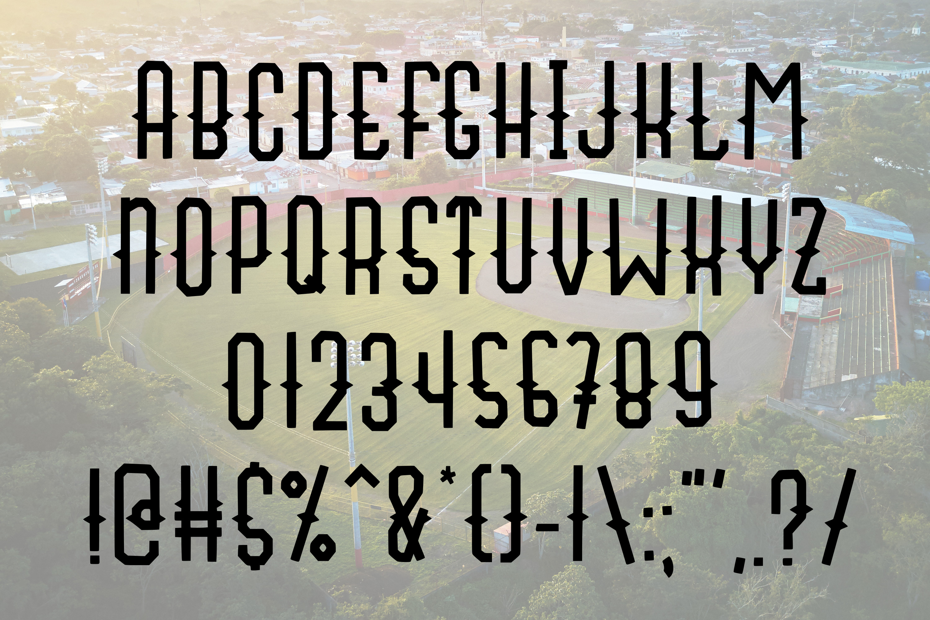 Fly Ball a Sporty Font Quad example image 4