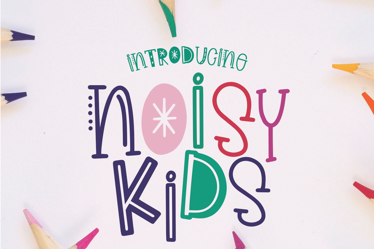 Noisy Kids - a Playful Hand-Written Font example image 1