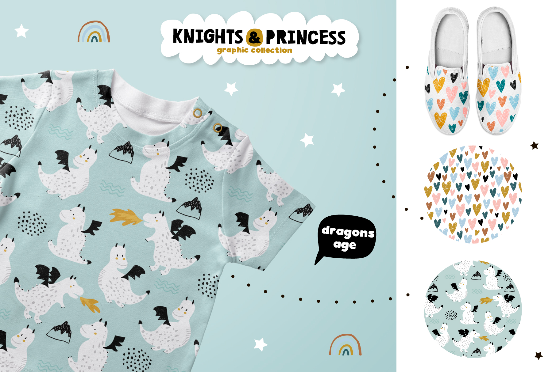 Knights & Princess graphic set example image 4