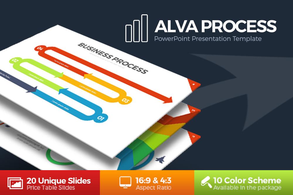 Alva Process Powerpoint Template example image 1
