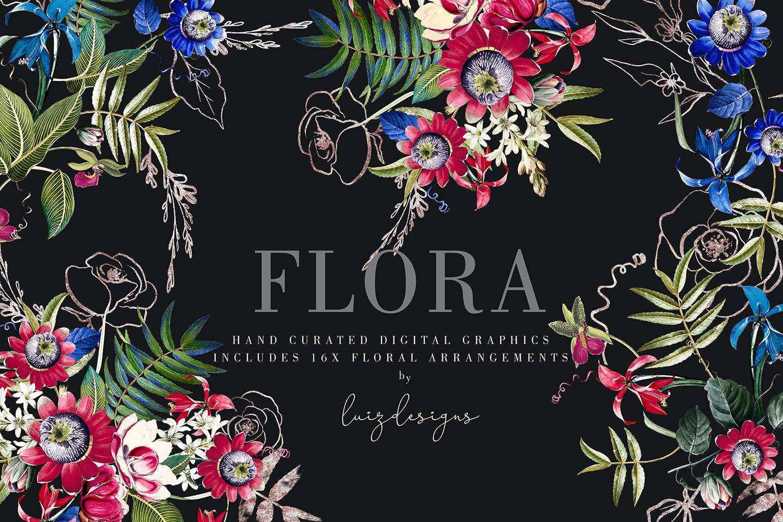 Flora| Arrangements vintage and gold Rose example image 1