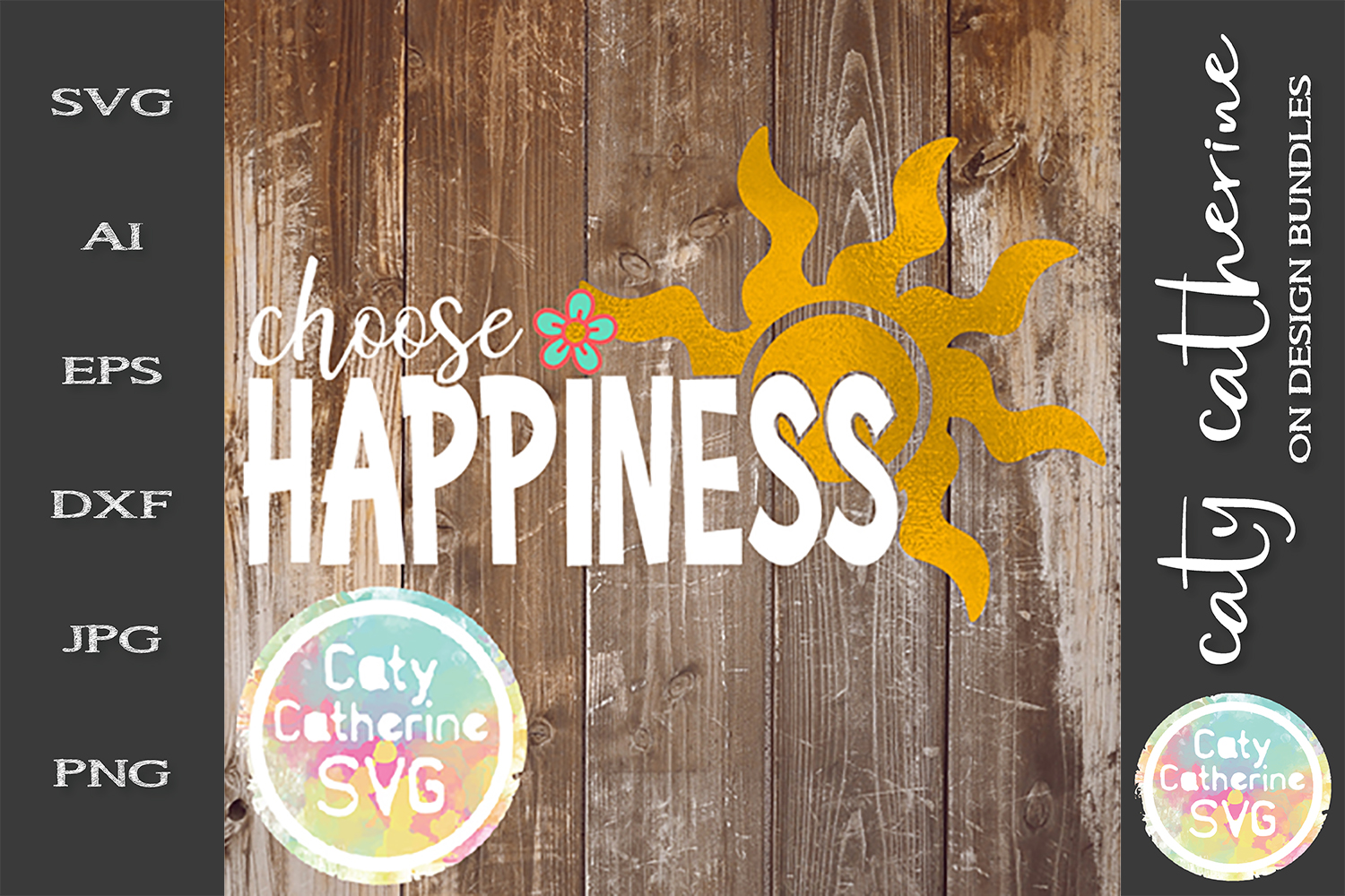Choose Happiness SVG Inspirational Quote example image 1