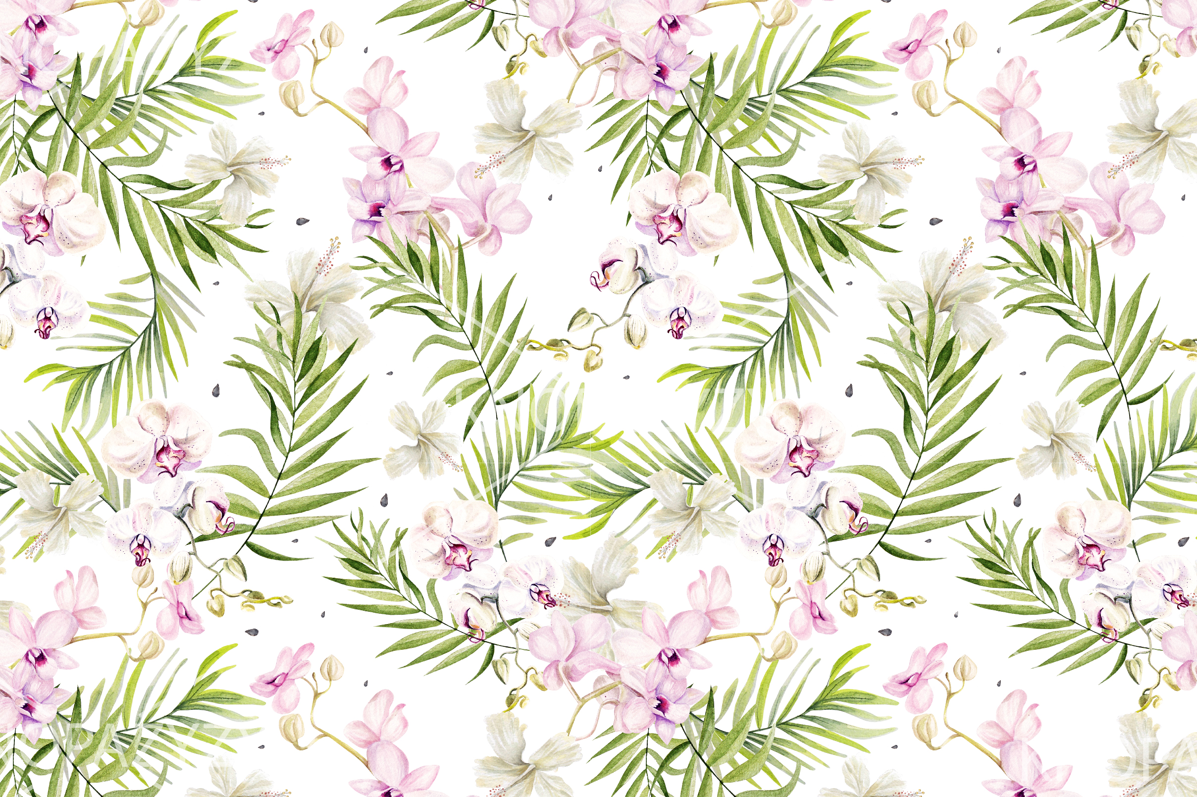 10 Hand Drawn Watercolor Pattern example image 11