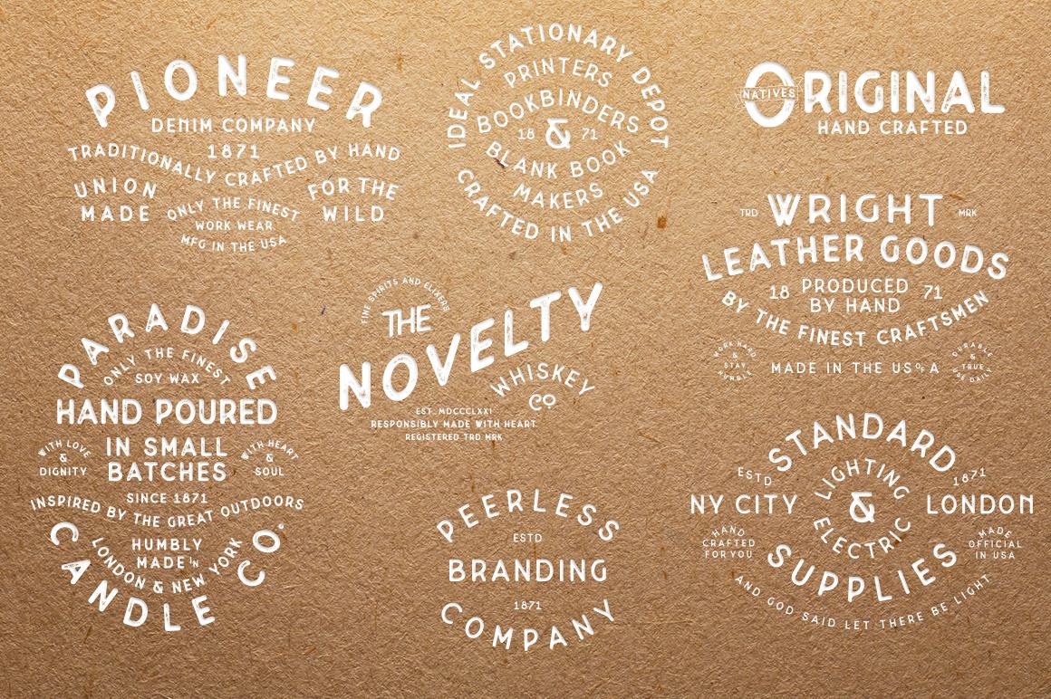 Superior -  Font & Logo Bundle example image 8