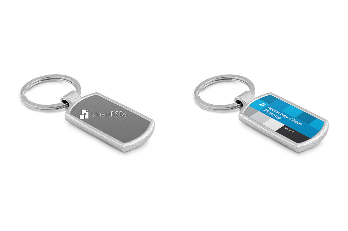 Metal Key Chain Mockup for Sublimation Design Preview example image 6