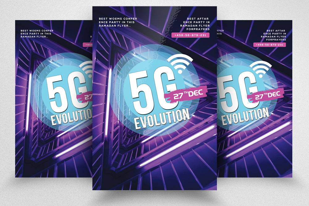 5G Evolution Flyer Template example image 1