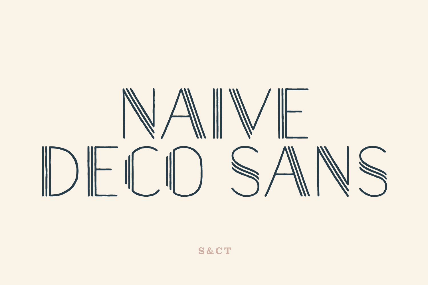 Naive Deco Sans Family example image 1