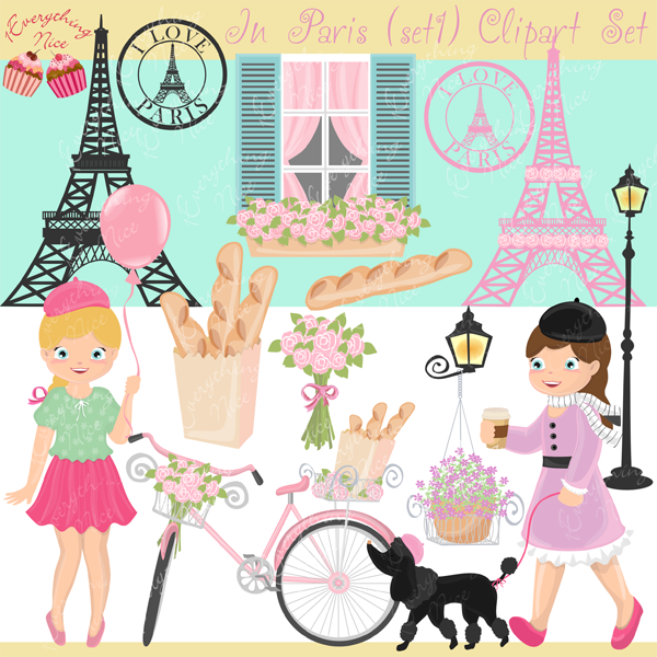 In Paris Clipart Set 1 example image 1