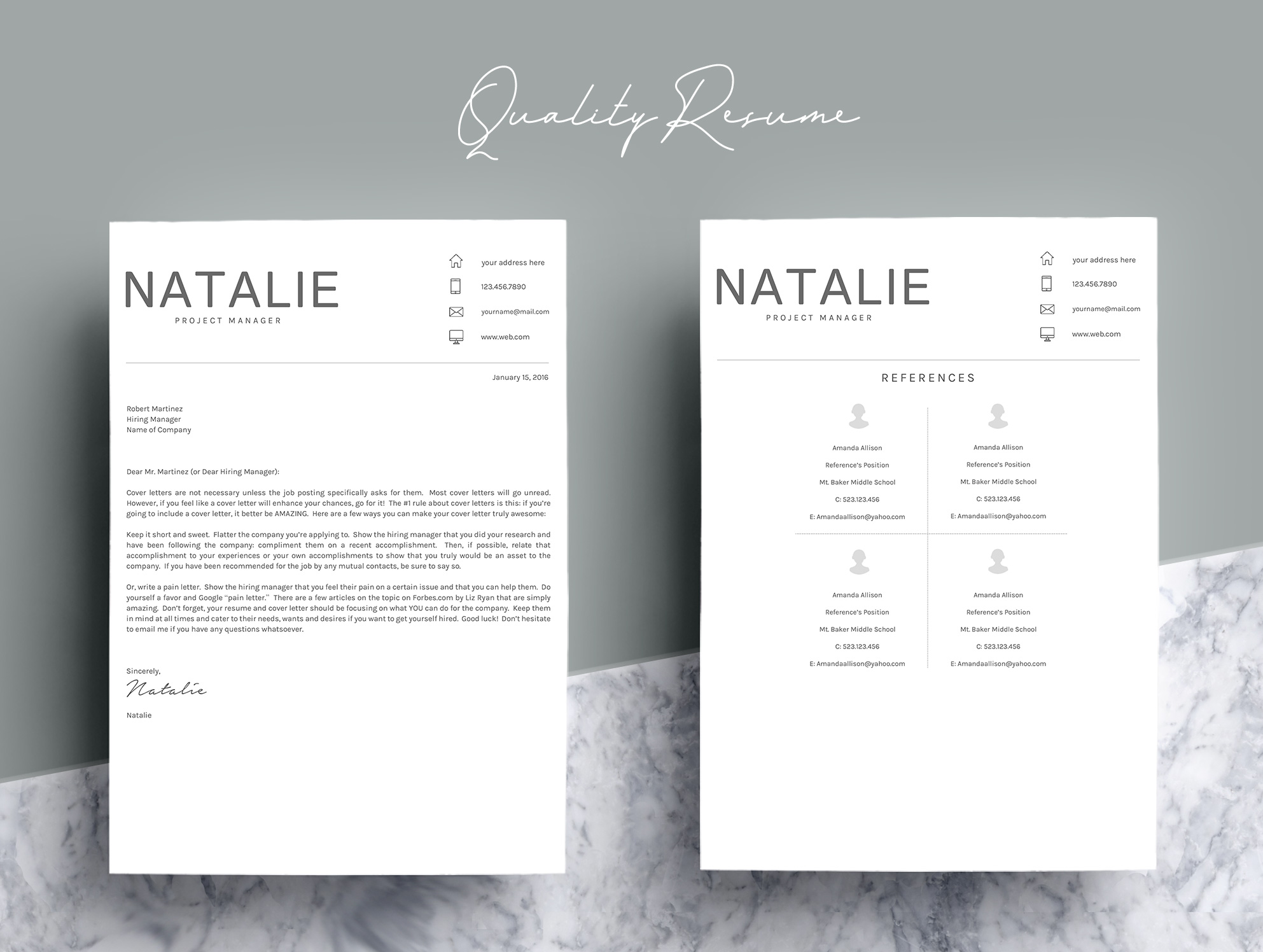 Resume Template CV Word example image 5