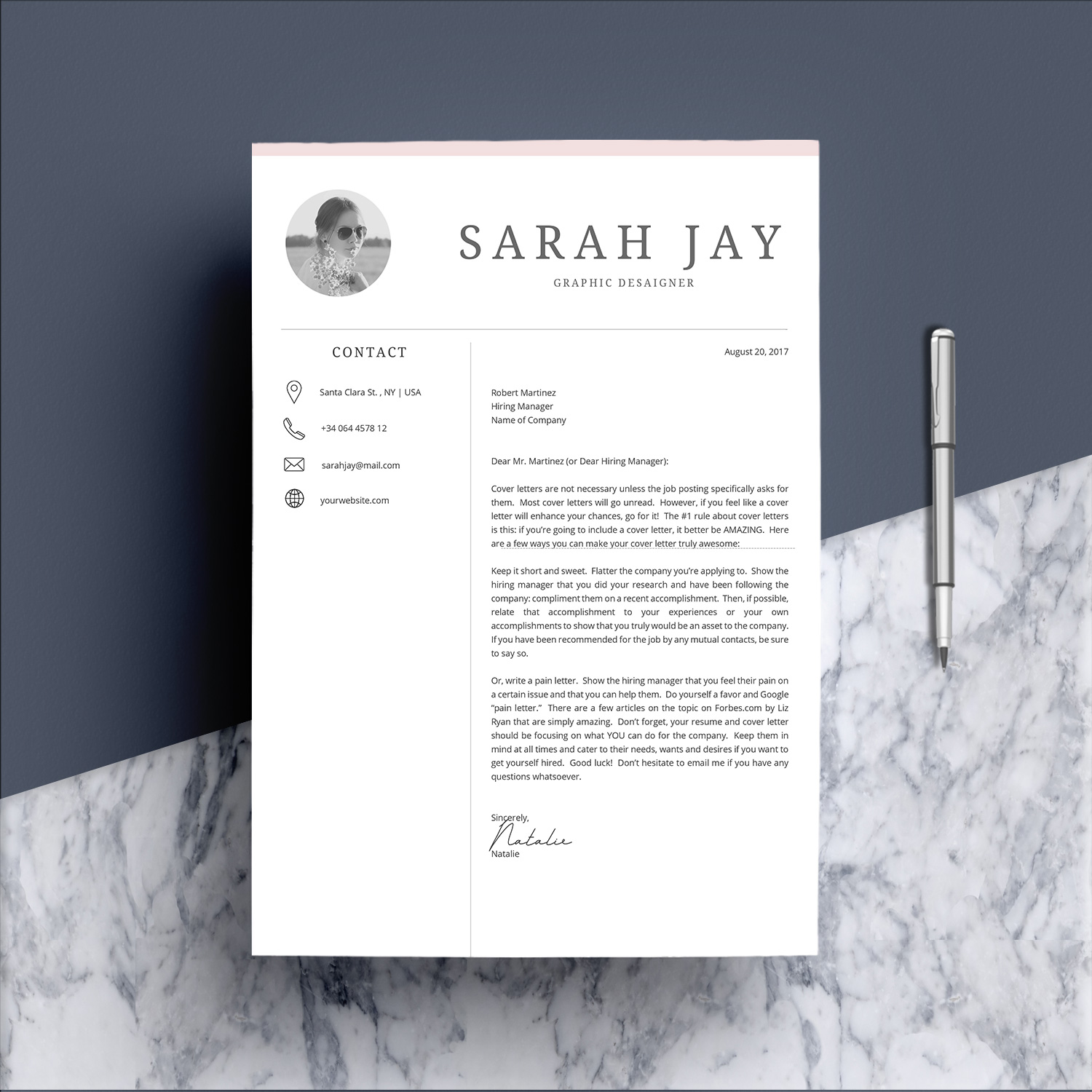Professional Resume Template Desaign example image 5