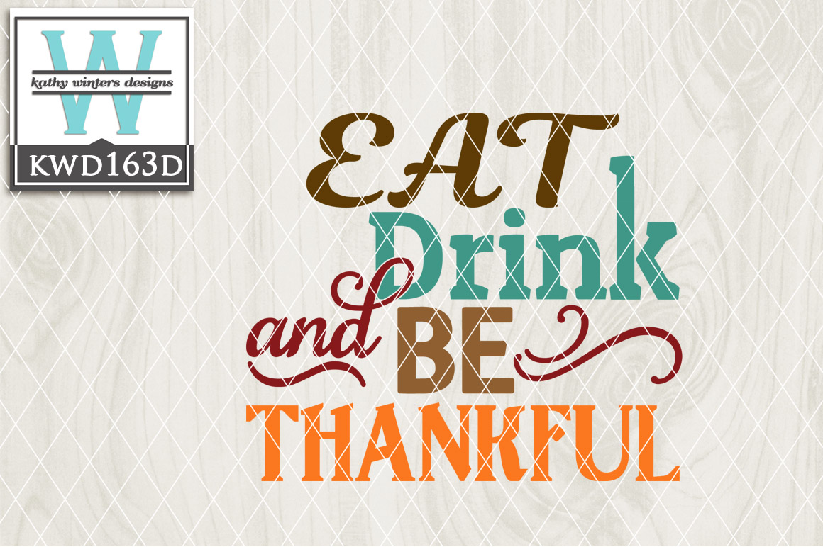 Thankful Cutting File KWD163D example image 1