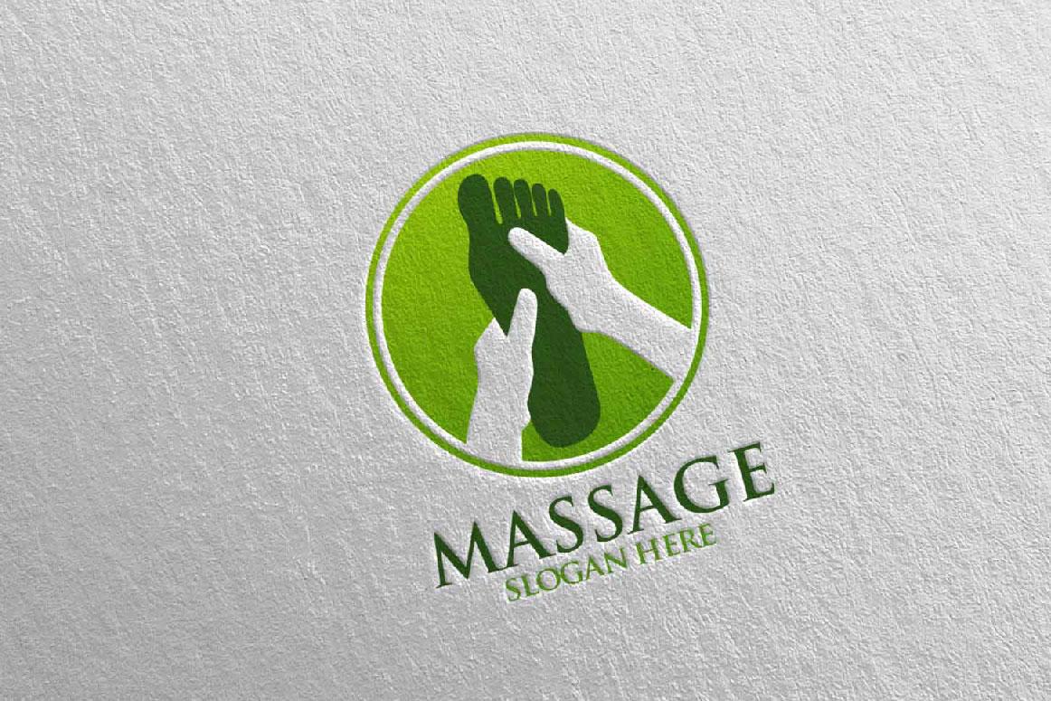 Massage Logo Design 5 example image 5