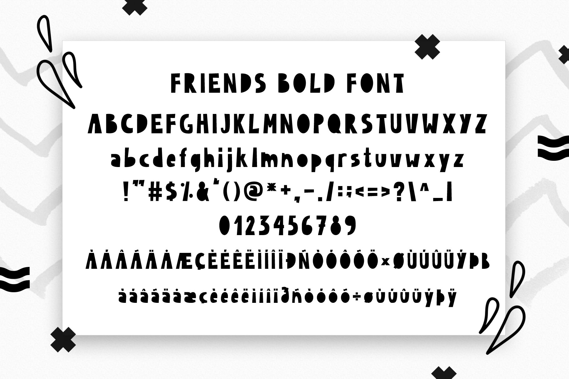 Friends Forever - Childrens font duo example image 7
