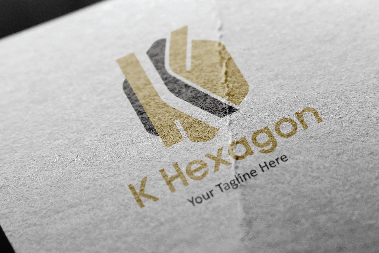 K letter hexagon logo example image 3