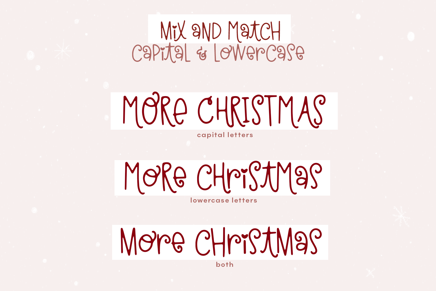Christmas Kisses - A Cute & Quirky Holiday Font example image 8