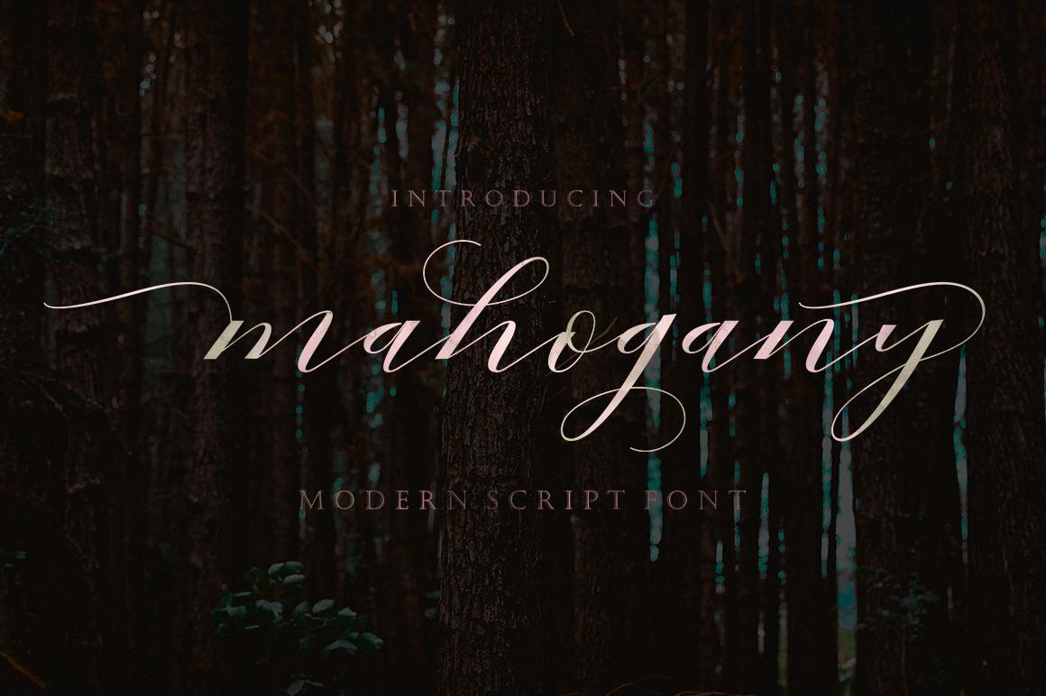 Mahogany Script example image 1