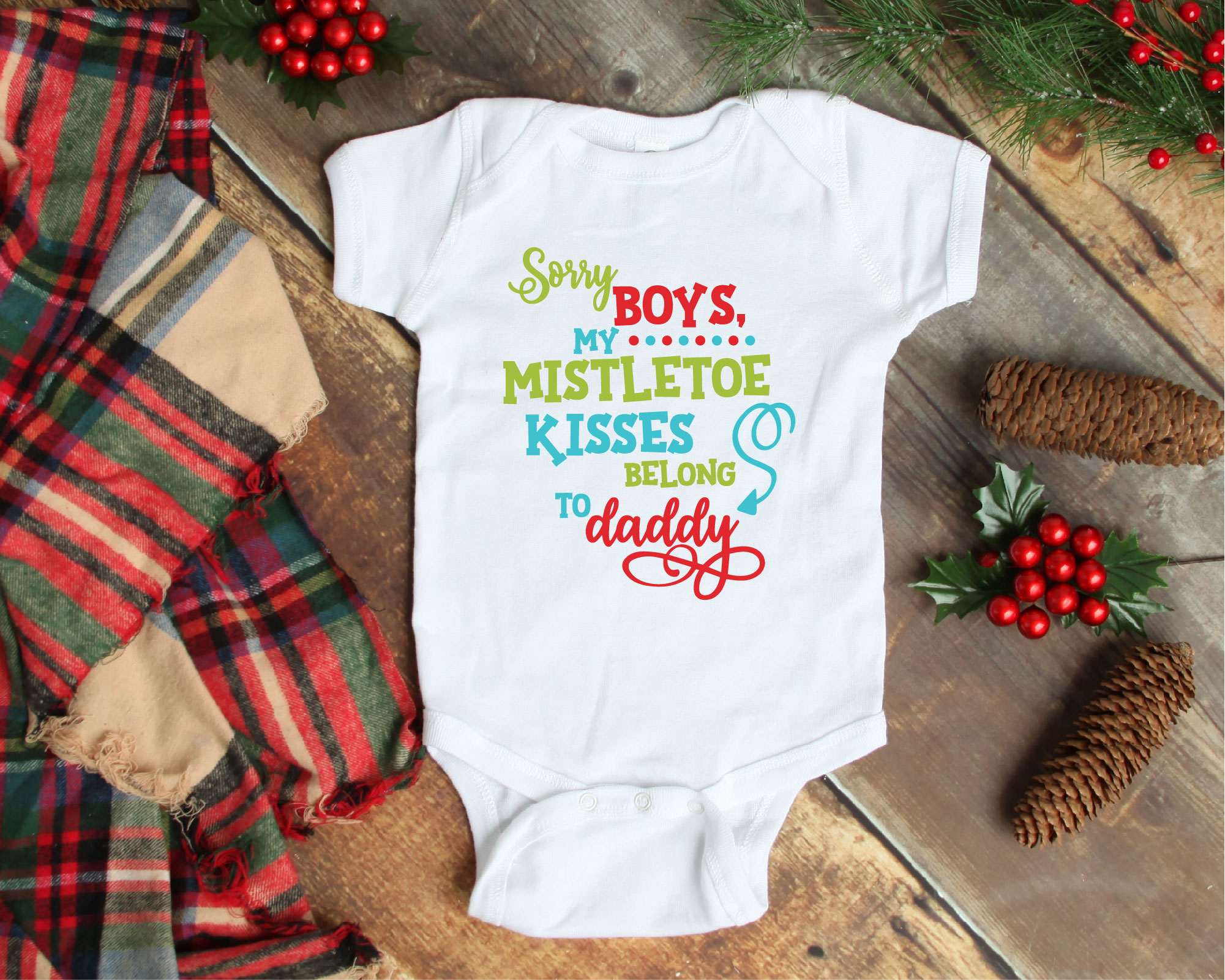 Mistletoe Kisses SVG, Sorry Boys My Kisses Belong To Daddy example image 2