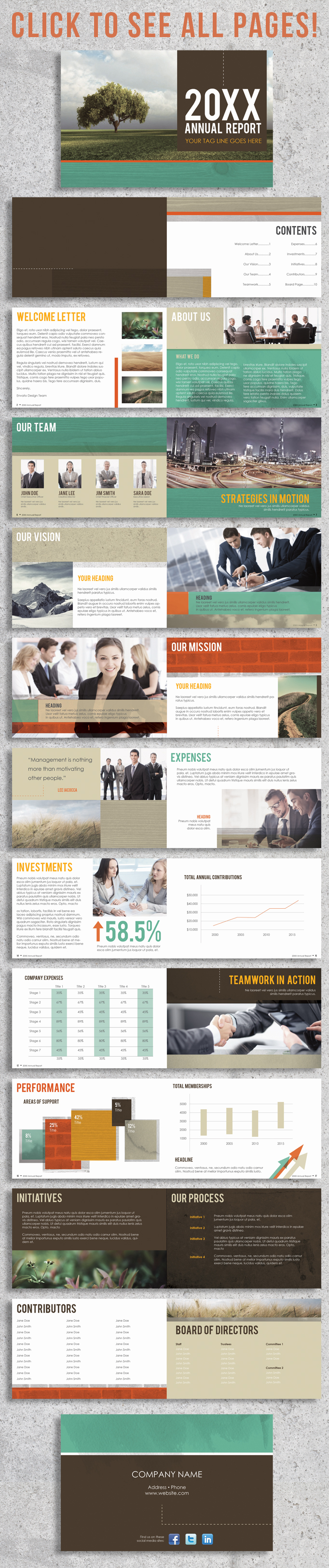 22 Page Corporate Annual Report Brochure Booklet example image 5