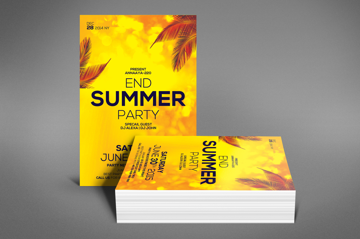 Summer End Party Flyer example image 4