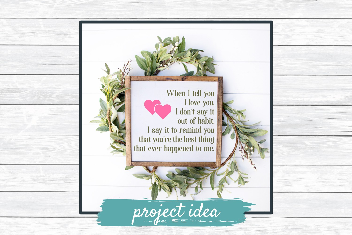 When I Tell You I Love You - SVG Cut File for Crafters example image 2