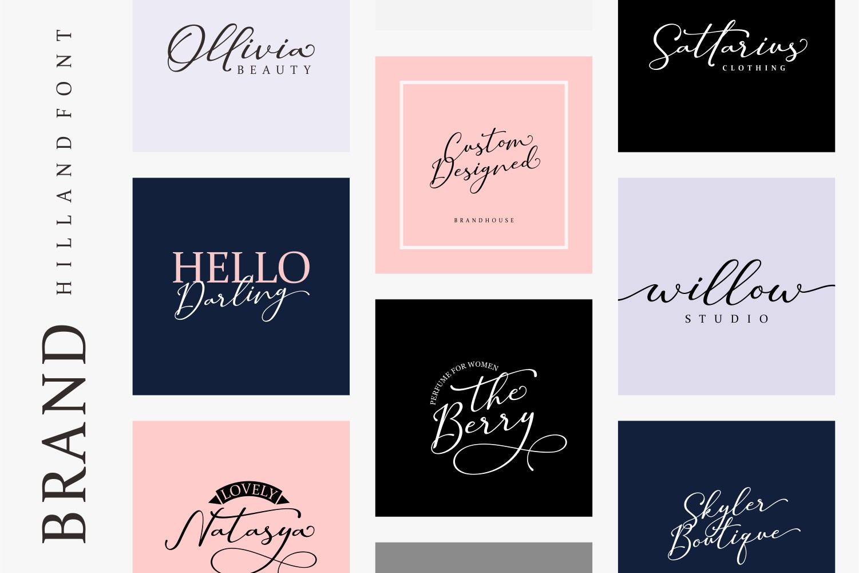 Hilland | Signature Font example image 5