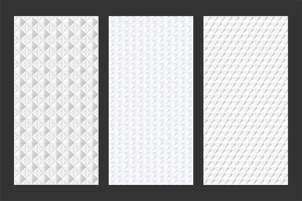 White and grey seamless 3d textures example image 7