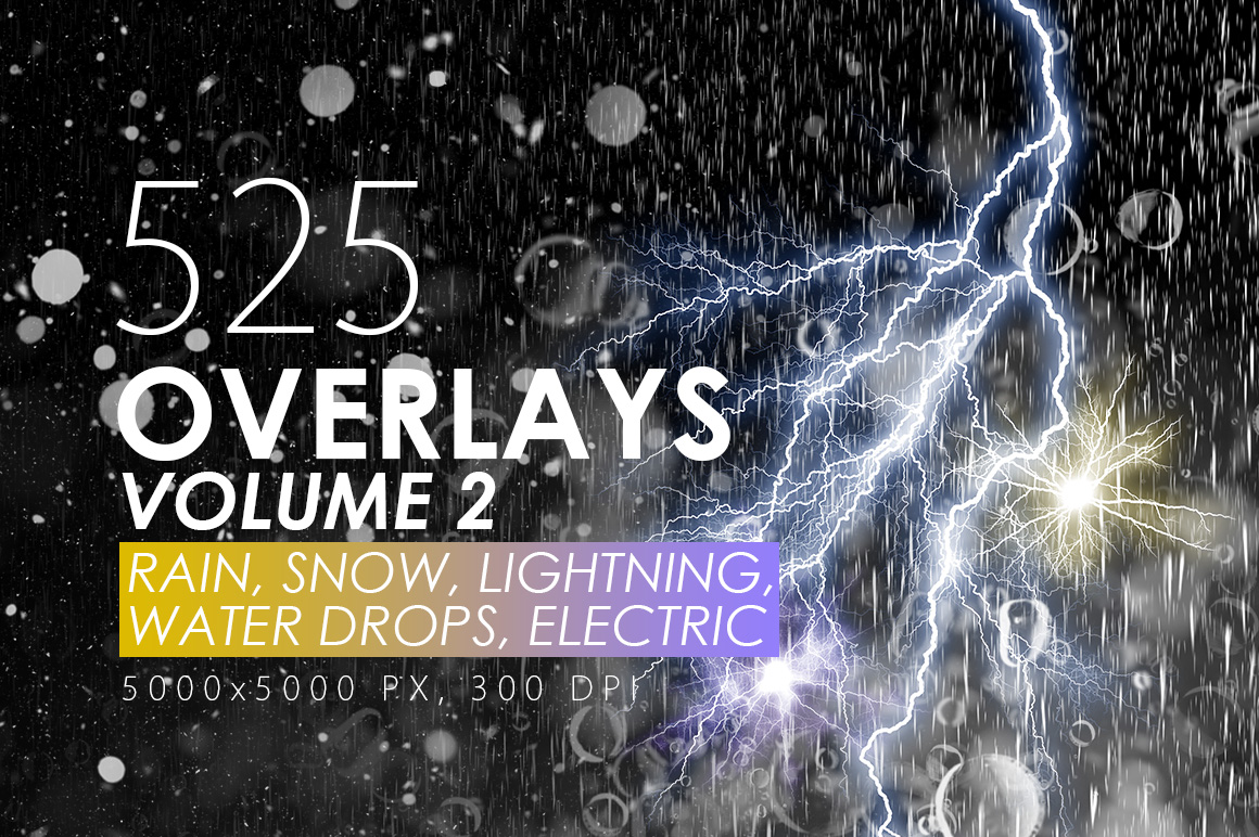 525 Rain, Snow, Lightning Overlays example image 1