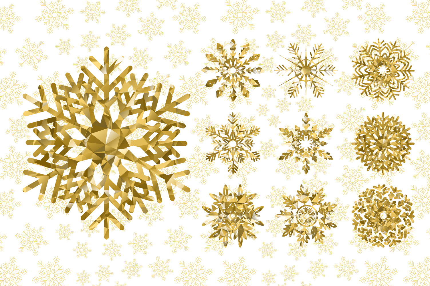 Golden Snowflakes Collection example image 2