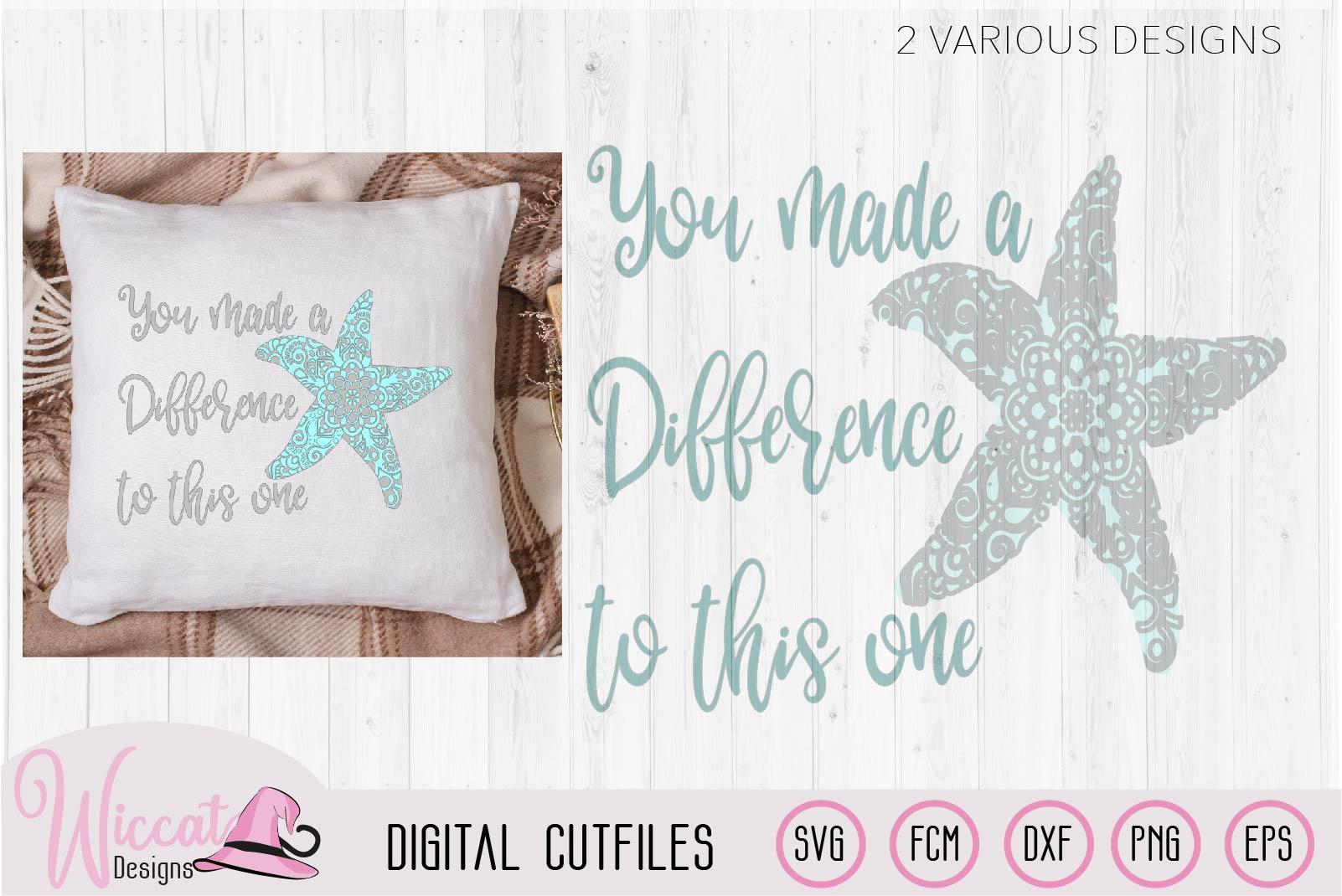Starfish mandala, positive quote svg example image 4