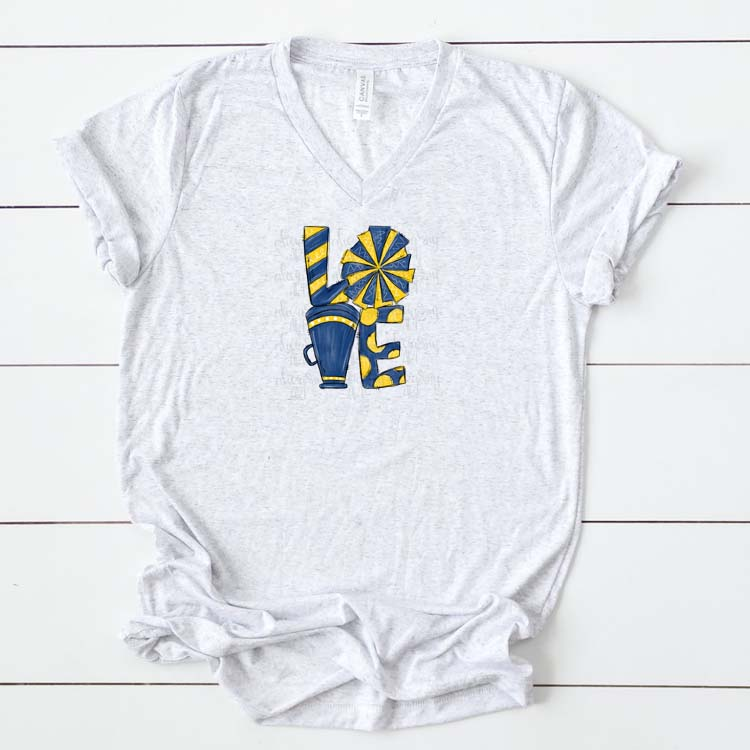 Cheer Love Navy and Yellow/Gold example image 2