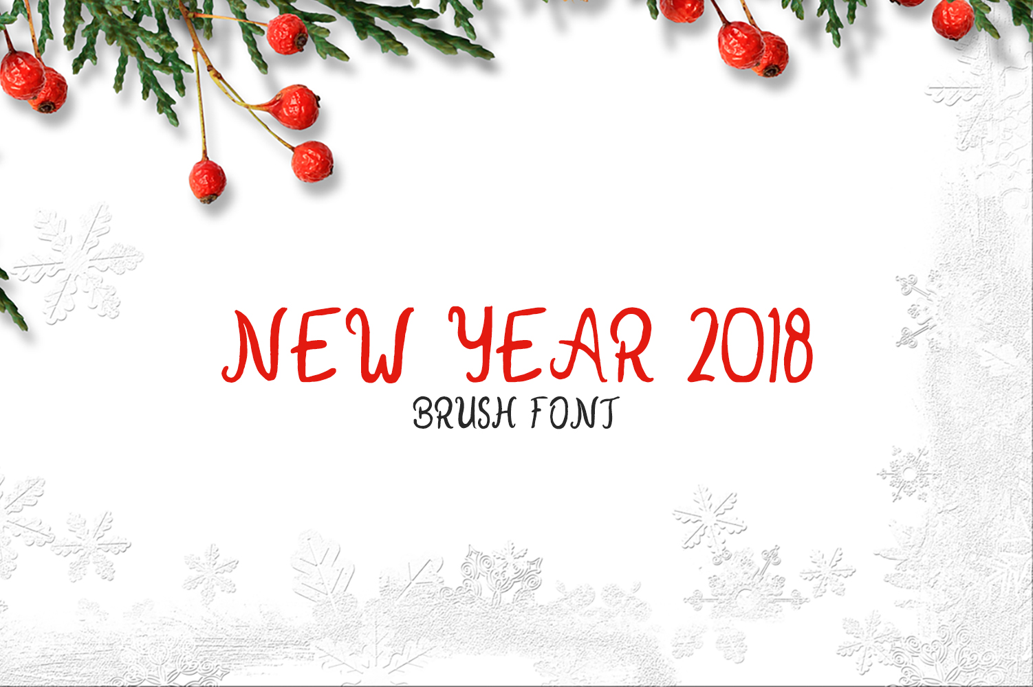 New Year 2018 Brush Font example image 1