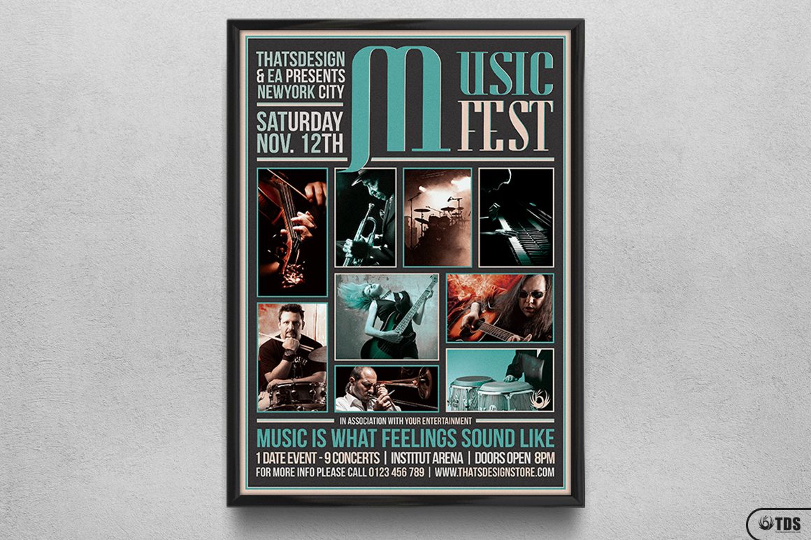 Music Festival Flyer Template V2 example image 6