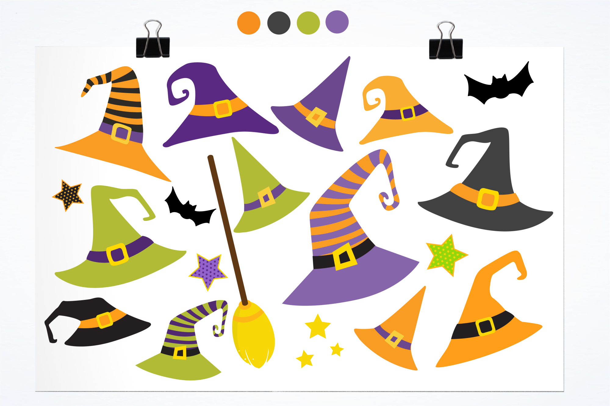 Halloween Hats graphics and illustrations example image 2