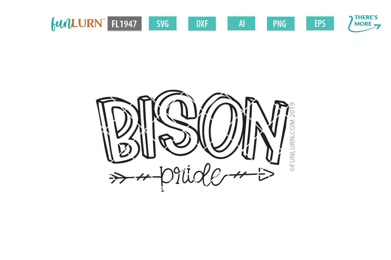 Bison Pride Team SVG Cut File example image 2