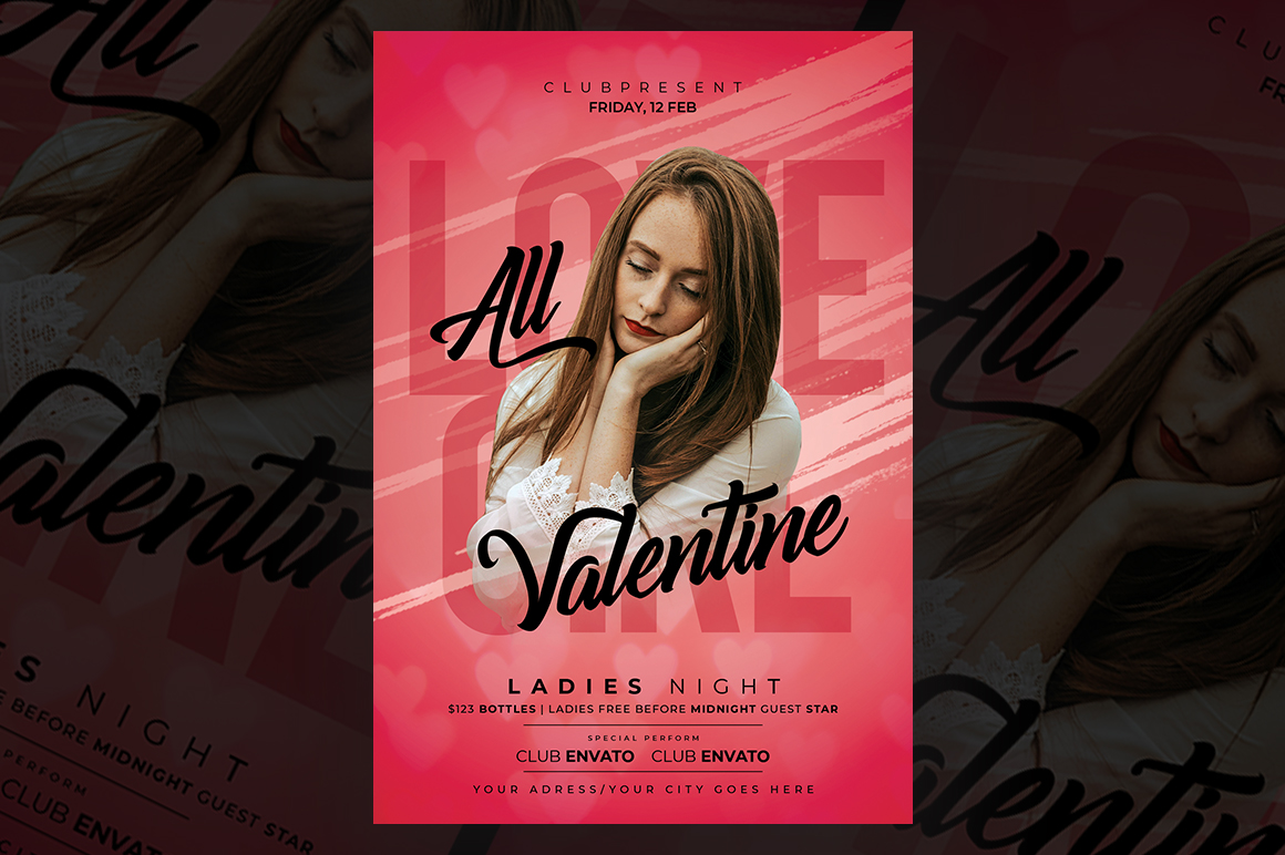 Valentines Party Flyer example image 1