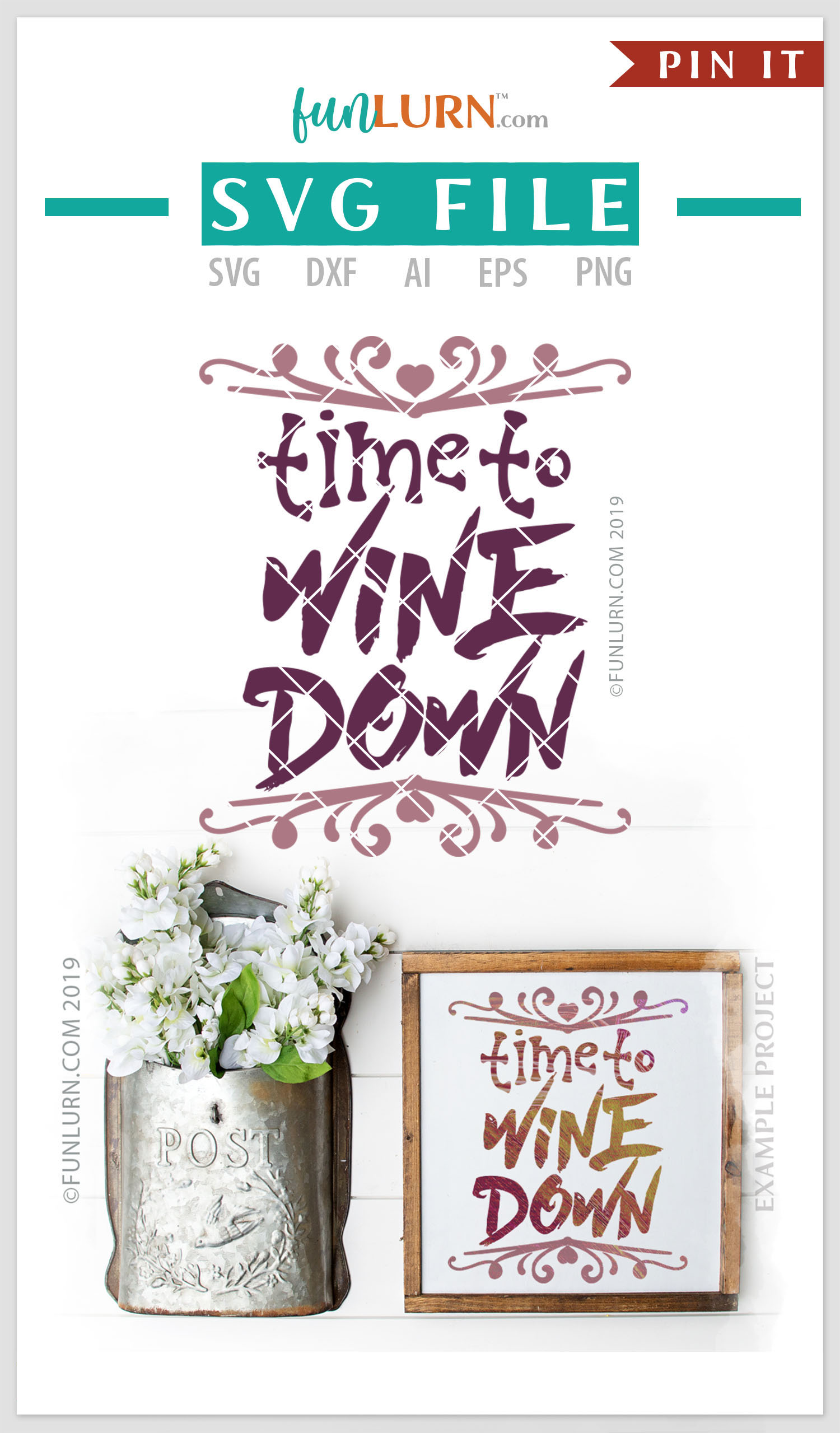 Time to Wine Down SVG Cut File example image 4