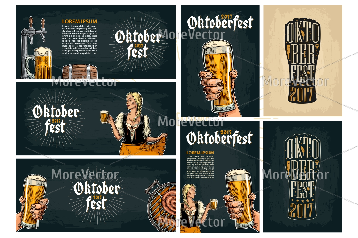Horizontal and vertical Poster to oktoberfest festival.  example image 1