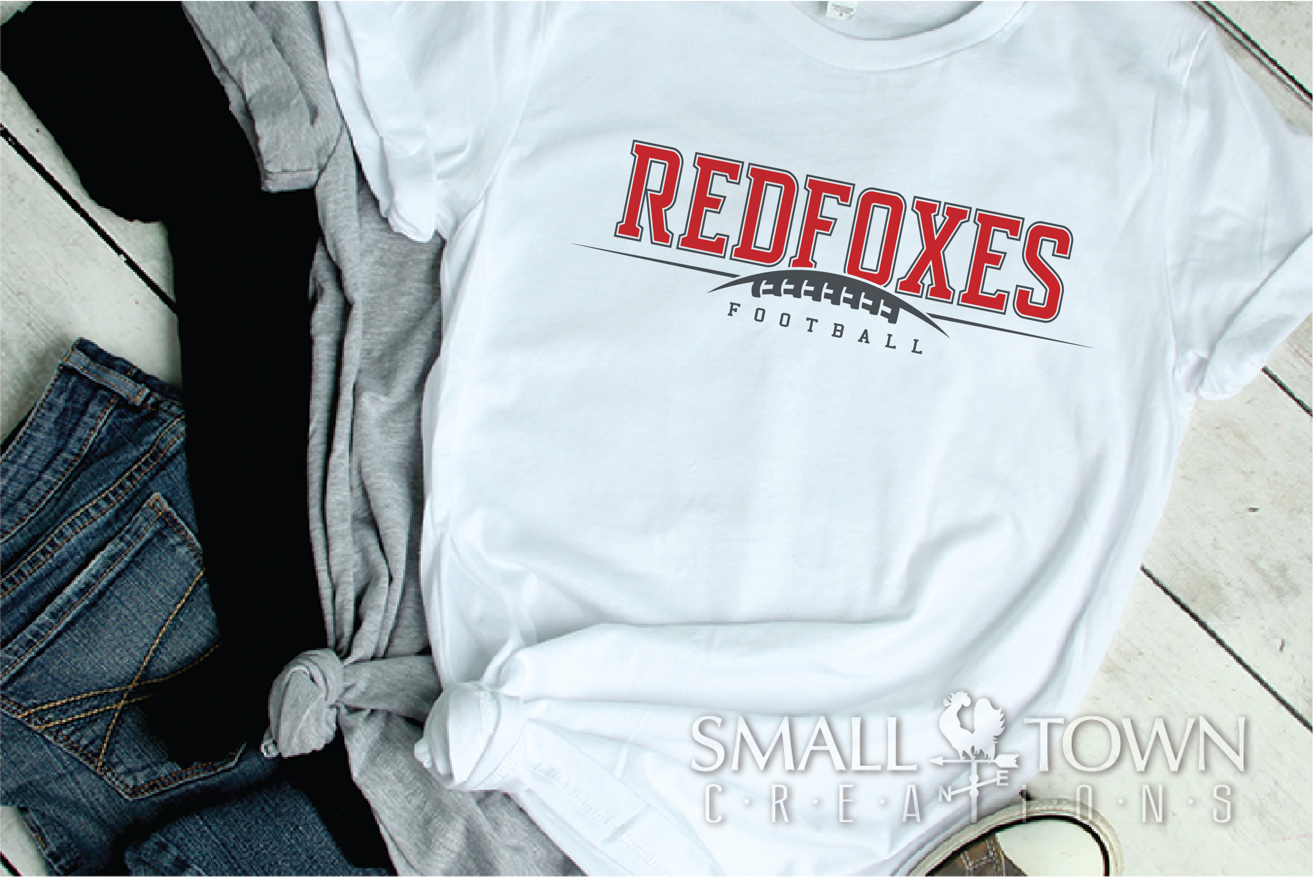 Redfoxes Football Team, Team, Sport, PRINT, CUT & DESIGN example image 2