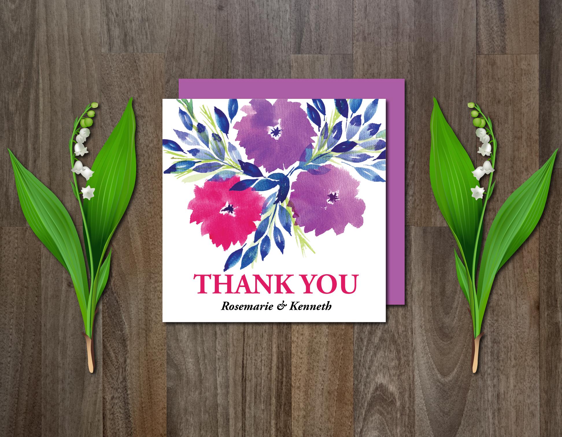 Watercolor Flowers Wedding Suite example image 5