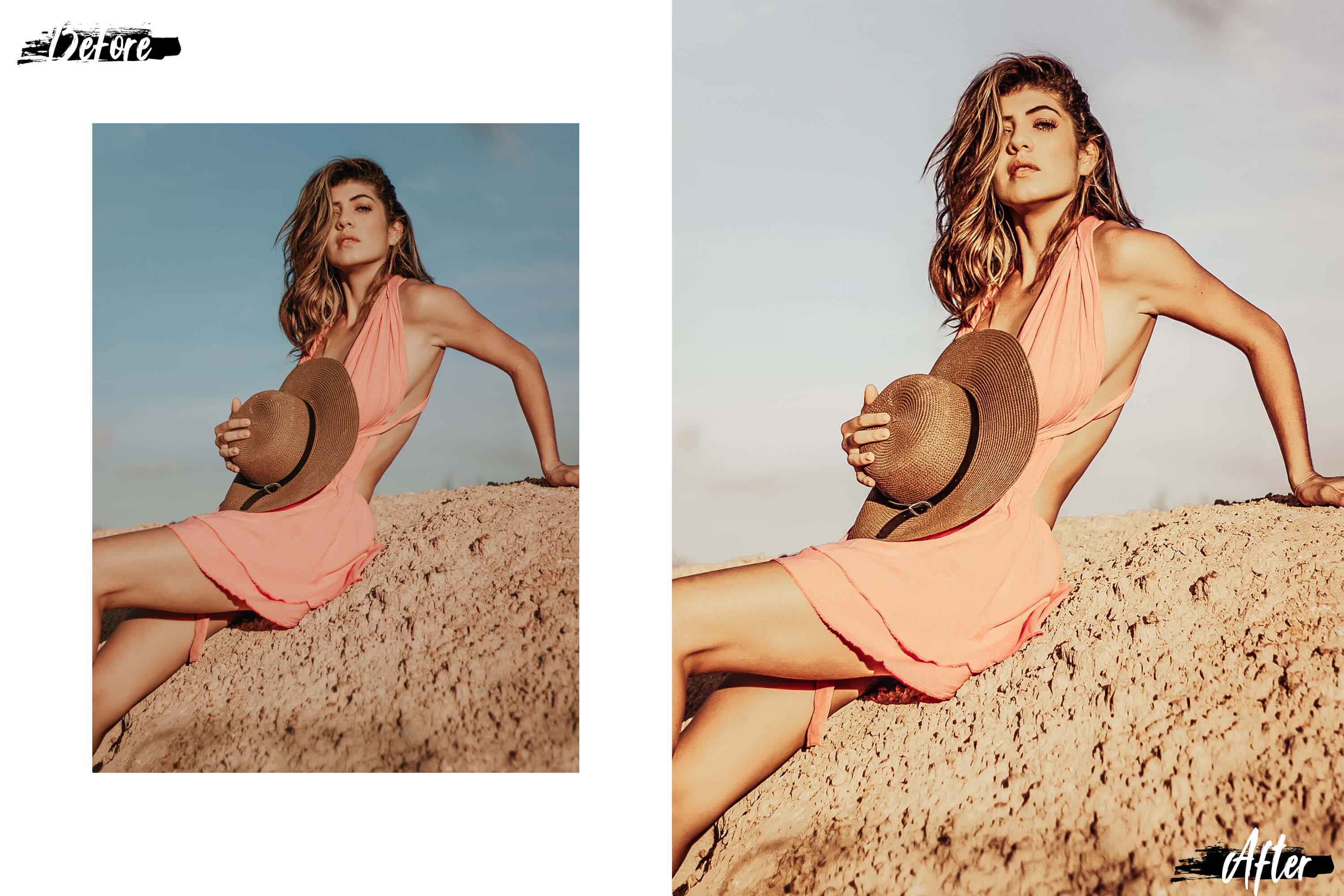 05 Nude Photoshop Actions, ACR and LUT presets, beige photo example image 4
