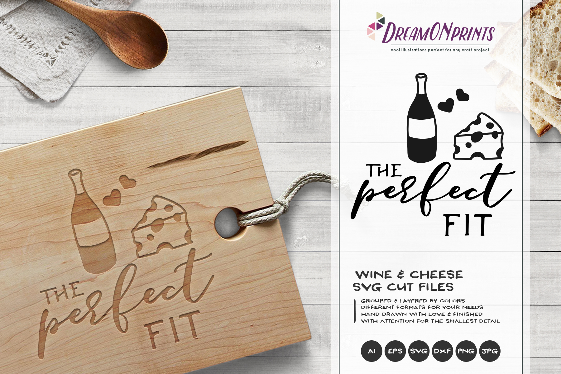 Wine and Cheese SVG BUNDLE - Bundle SVG Cut Files example image 2