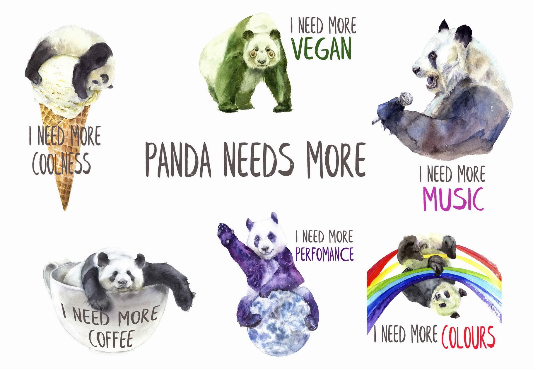 Panda Like You Watercolor Set example image 2