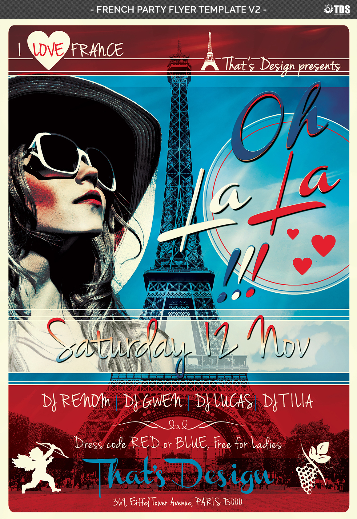 French Party Flyer Template V2 example image 4