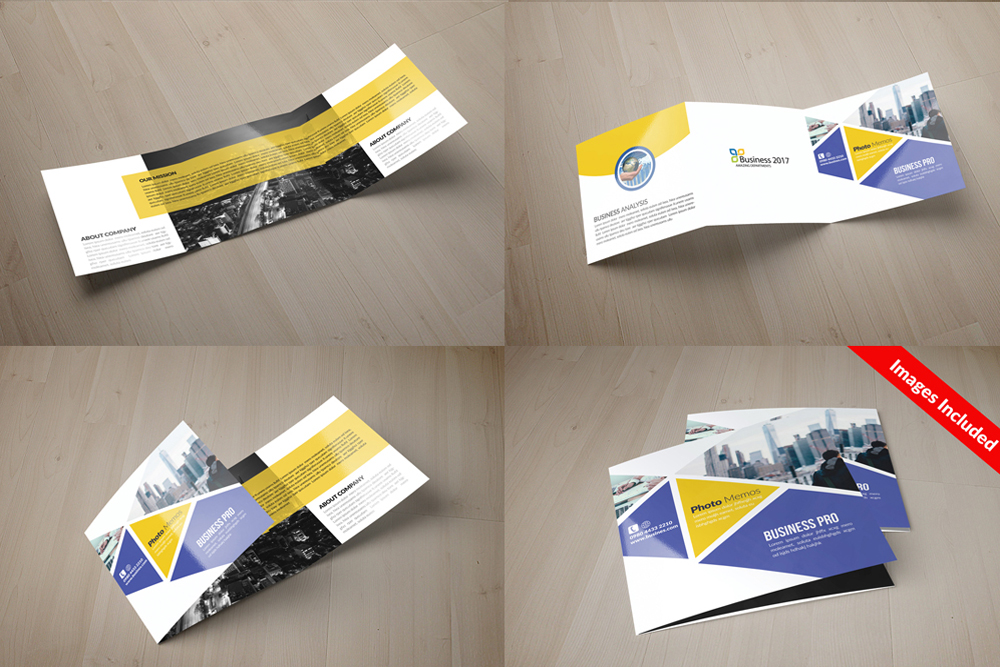 25 Square Trifold Business Brochures Bundle example image 11