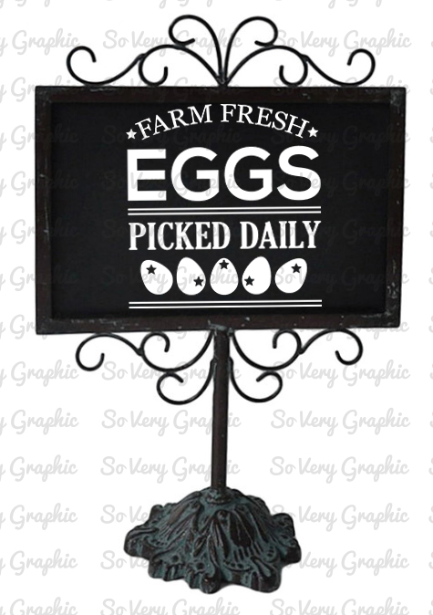 Farm Fresh Eggs | Cutting & Printable File | SVG | PNG example image 3