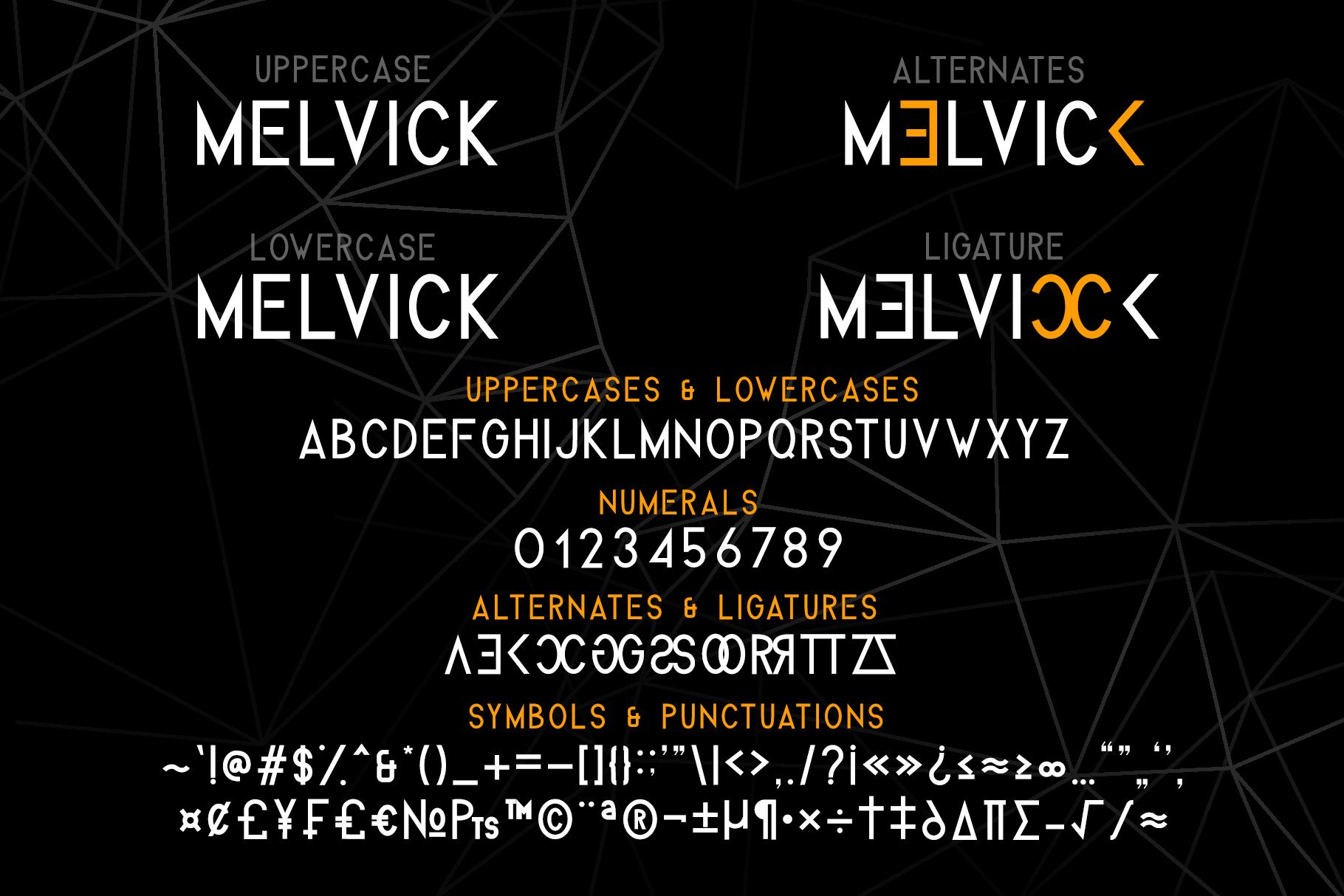 Melvick - 12 Font Family & EXTRA LOGO example image 4