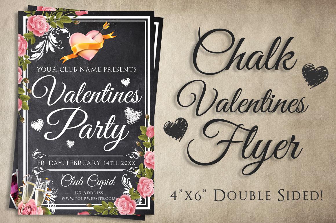 Chalk Valentines Flyer example image 1