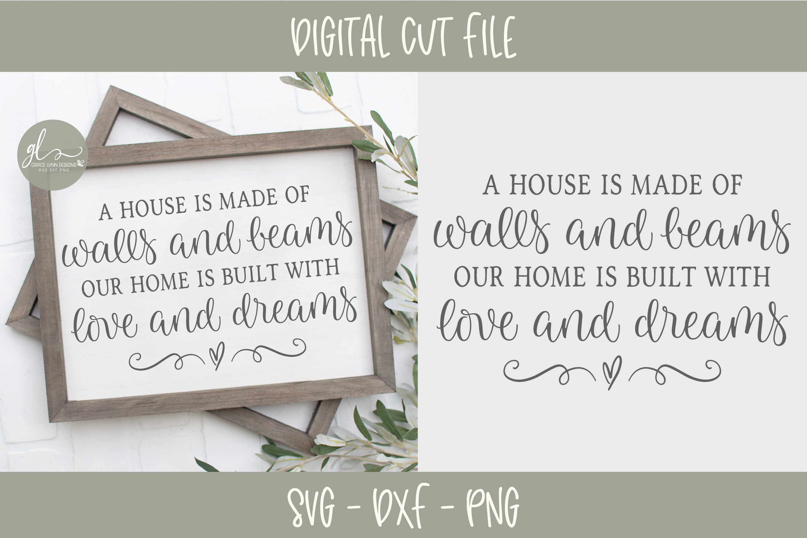 Farmhouse Sign Bundle Vol. 2 - SVG, DXF & PNG - 8 Designs example image 4