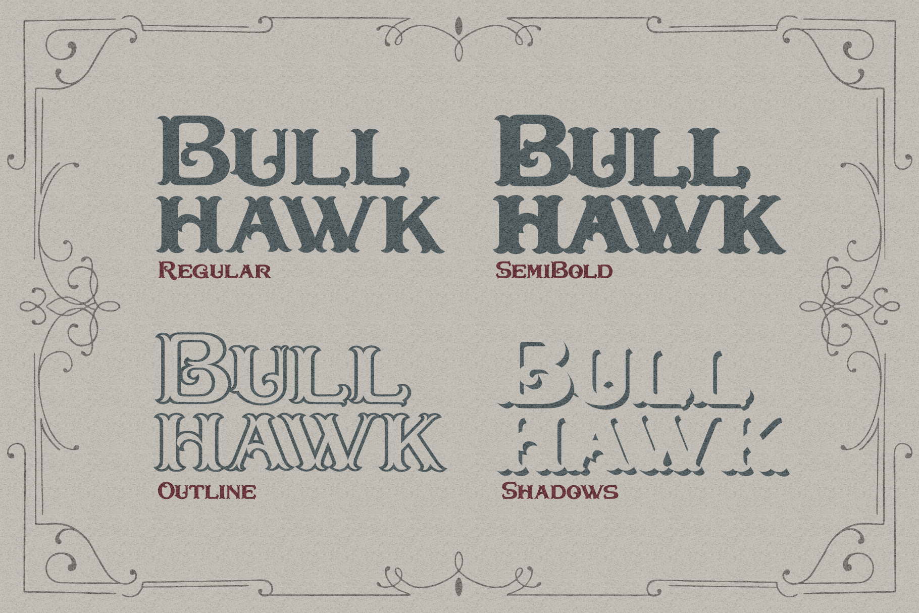 Bullhawk Layered Font Extra example image 2