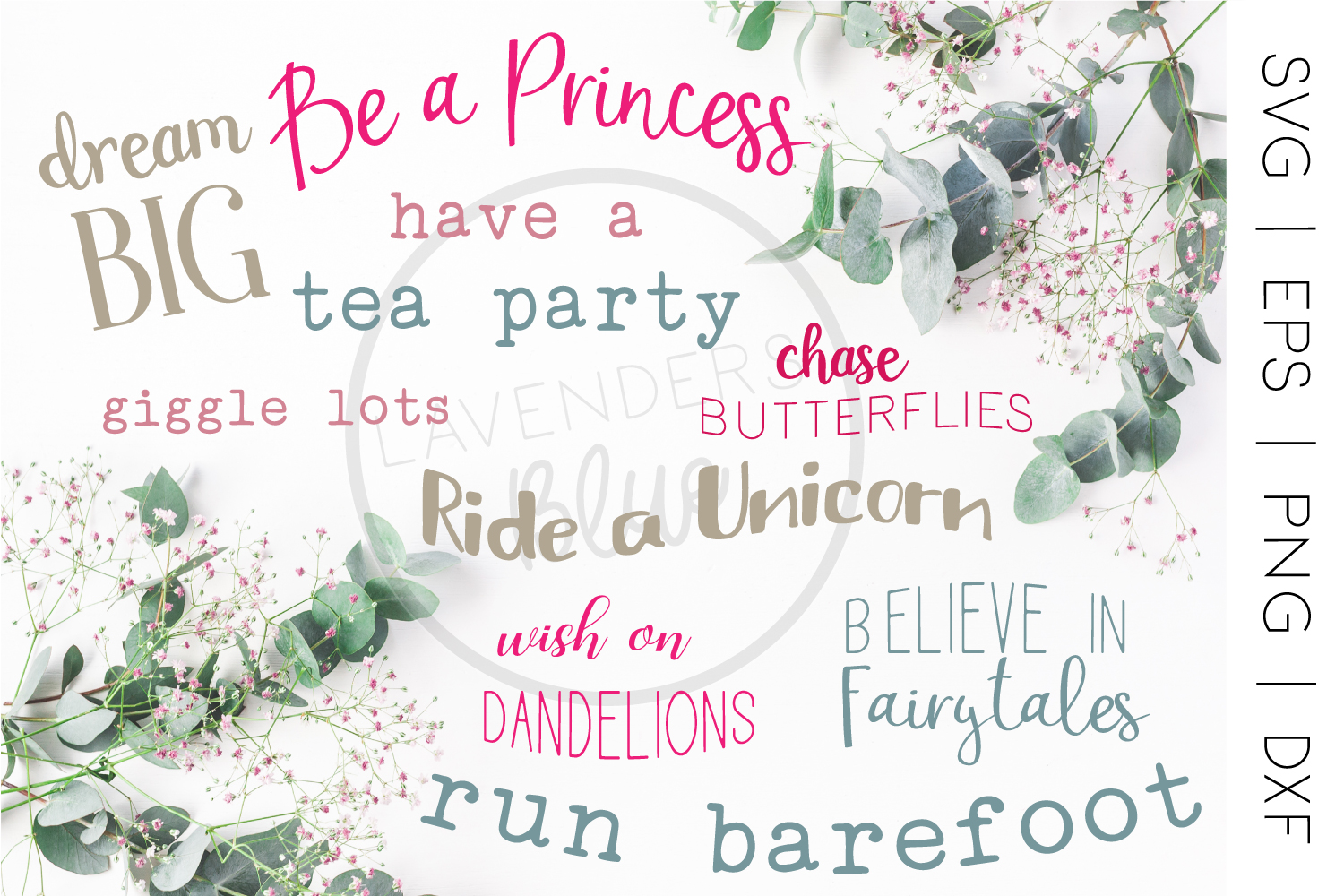 Be a Princess | Little Girl Quote Bundle | 9 SVQ Quotes example image 1